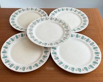 5 Metlox Navajo Dinner Plates Mid Century Modern California Pottery