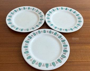 3 Metlox Navajo Salad Plates Mid Century Modern California Pottery