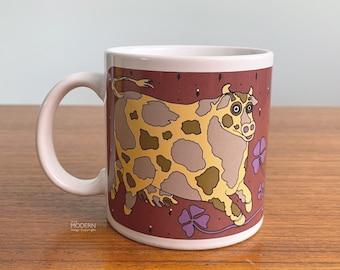 Taylor and Ng Calico Cow Classy Critters Ceramic Mug Japan Vintage
