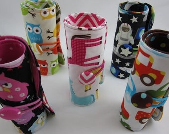 Personalized Crayon Roll - You Pick Fabric - Includes 8 Large, Washable Crayola Crayons - Custom Embroidery - Add Name - Made to Order Gift