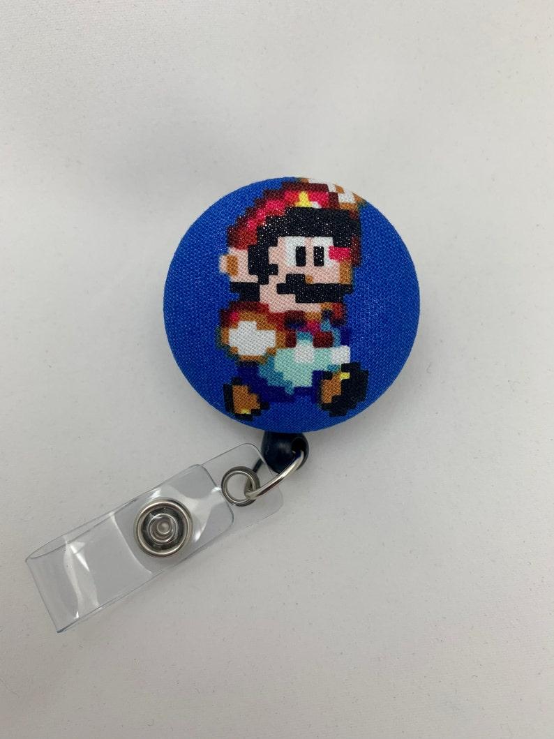Mario Badge Reel  Super Mario Brothers  Retractable Security image 1
