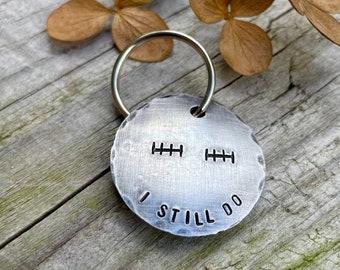 Custom 10th Anniversary Keychain - Tin Anniversary Gift - Aluminum Anniversary - Tally Mark Keychain - Traditional 10th Anniversary Gift