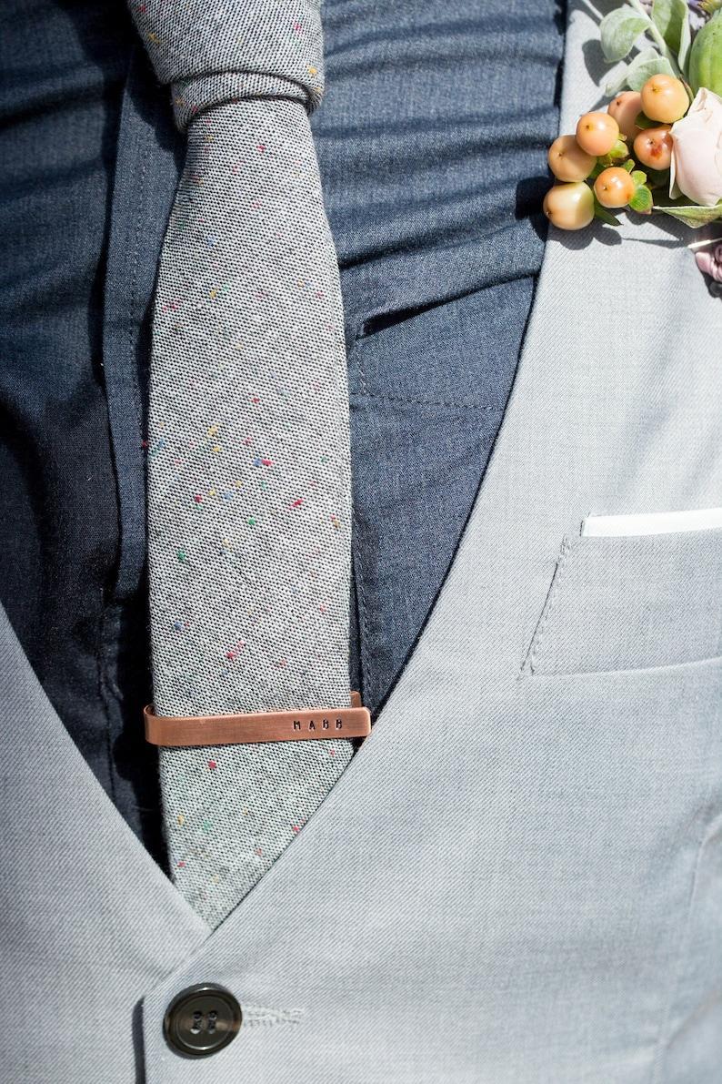 04b2b8f743bf Custom Tie Tack / Tie Bar Personalized on both sides Silver | Etsy