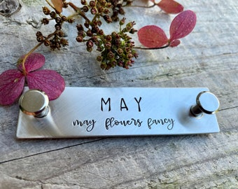 Custom Horse Halter Plate - Brass Halter Tag - Equestrian Gift - Personalized Horse Name Plate in Brass or Nickel Silver