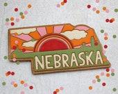Nebraska Retro Wall Sign