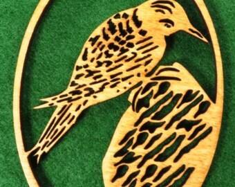 Wood Woodpecker Ornament