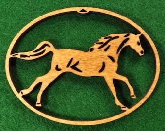 Wood Horse Ornament