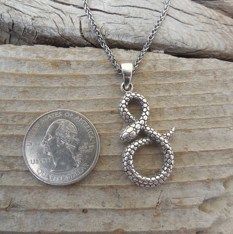 ON SALE Snake necklace handmade in sterling silver 925