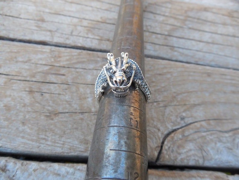 ON SALE Dragon ring handmade in sterling silver 925