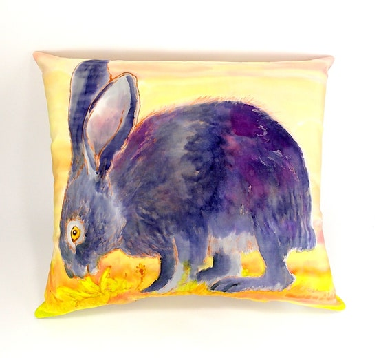 Kids Room Rabbit Pillow Art Baby Nursery Art Bunny Pillow Etsy