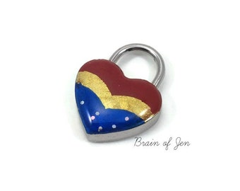 Wonder Woman Inspired Heart Lock