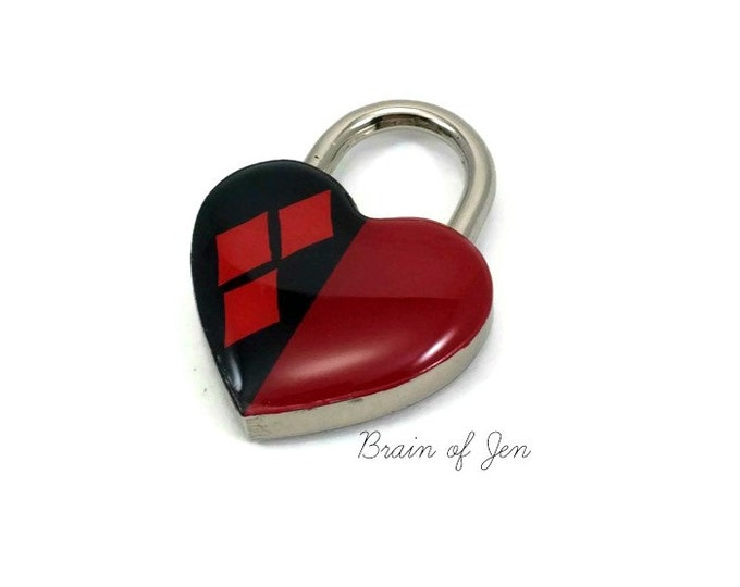 Harley Quinn Heart Shaped Padlock