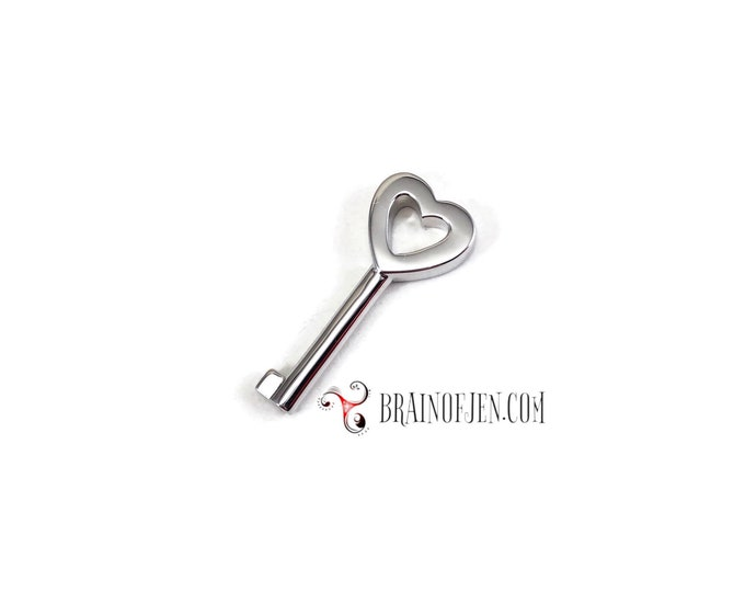 Sterling Silver Key Extra Key for 20mm Heart Lock