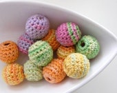 Organic Crocheted Summer Beads 12 Peces