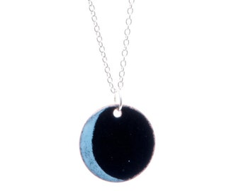 Black New Moon Necklace