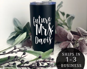 Future Mrs Engagement Mug - Gift for Bride To Be - Personalized Travel Mug - Coffee Tumbler - Bride Tumbler - Bride Gift Box - Cup