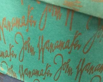 Vintage John Wanamaker Department Store Gift Box Cardboard Advertising Advertisement Philadelphia Philly Icon