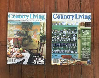 Vintage Country Living Magazine 1990s Decorating Flea Market Finds Cooking Home Improvement Back Issues 1995 1996 Aug Sept Lot of 2