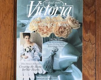 Vintage Victoria Magazine 1990s Decorating Flea Market Finds Cooking Home Improvement Back Issues 1993 Spring Sampler Apr May Lot of 3