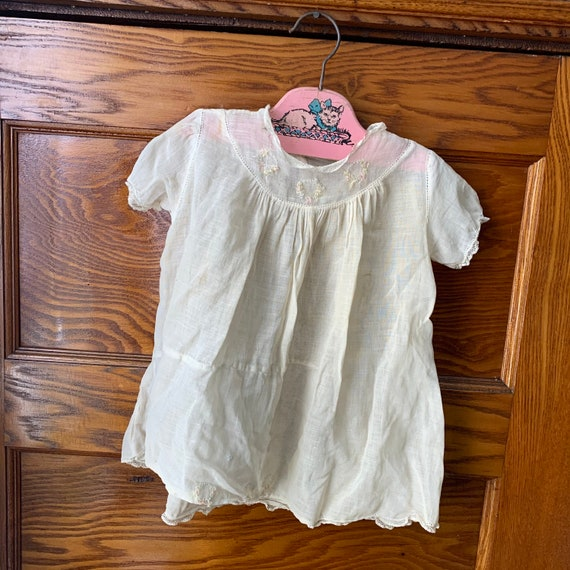 Vintage HankiePink LinenWedding Hankie1950sBridal ShowerTea PartyBaby Gender RevealBaby Shower