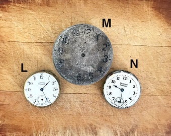 Vintage Pocket Watch Clock Face No Case No Glass Non-Working Parts Supply Steampunk Choice of One