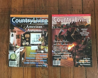 Vintage Country Living Magazine 1990s Decorating Flea Market Finds Cooking Home Improvement Back Issues 1998 Nov Dec Lot of 2