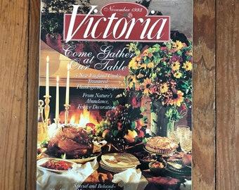 Vintage Victoria Magazine 1990s Decorating Flea Market Finds Cooking Home Improvement Back Issues 1993 Sept Oct Nov Lot of 3