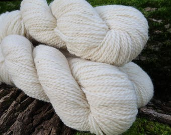 White Romney Yarn - Jefferson