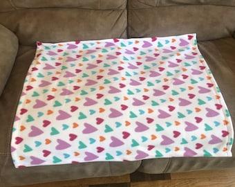 Fleece pet blanket for a cat/ kitten, dog or cat (small) 27x27