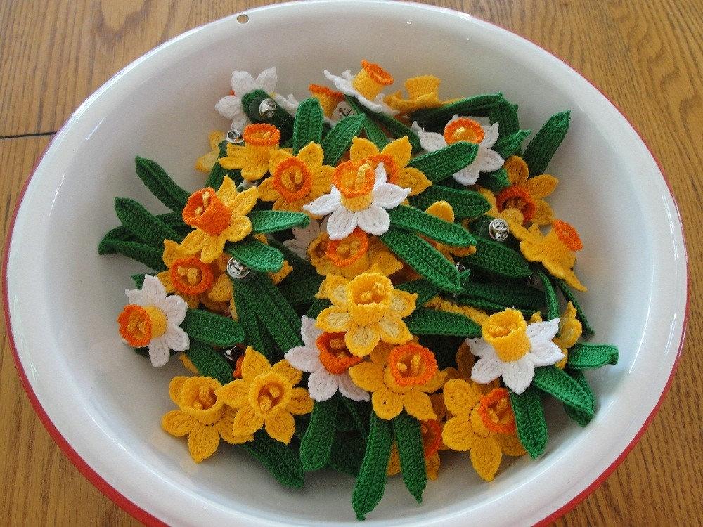 3d Crochet Daffodil Flower Pattern Instant Download Etsy