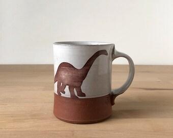 Diplodocus Mug - white