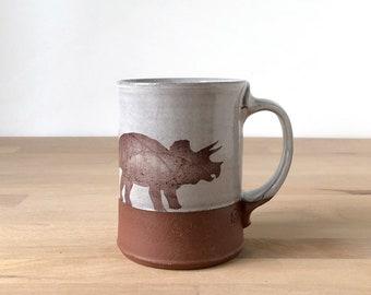 Triceratops Mug - white