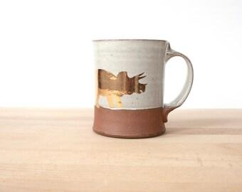 Gold Triceratops Mug