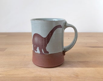 Diplodocus Mug - blue/grey