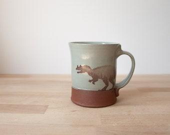 Ceratosaurus Mug - grey/blue
