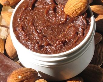 Organic Chocolate Almond Edible Body Butter 1 1/2 oz size - Very chocolatey w/ Organic Cocoa