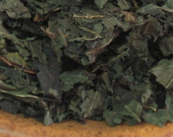 Organic Wild Crafted Nettle Herbal Tea - Bulk 1 oz - Natural plant form of iron - Wild Harvested at Peak for Optimum Nutrients