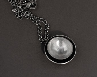 nesting cups pendant in sterling silver (large)