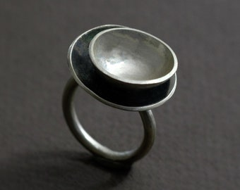 nesting cups ring in sterling silver