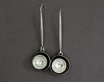 nesting cups earrings in sterling silver