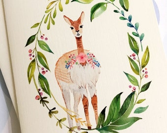 Greeting Cards, Note Cards, Stationery, Card Set, Llama Card