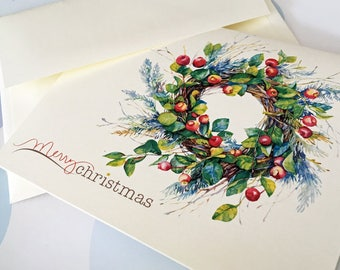 Christmas Card, Holiday Cards, Christmas Card Set, Set of 10 cards