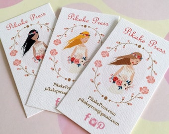 Business Cards, Printed Business Cards, Personalized Card, Set of 50