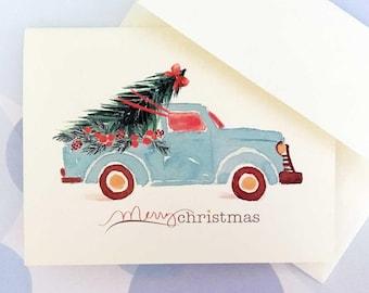 Christmas Cards, Holiday Cards, Christmas Card Set, Set of 10