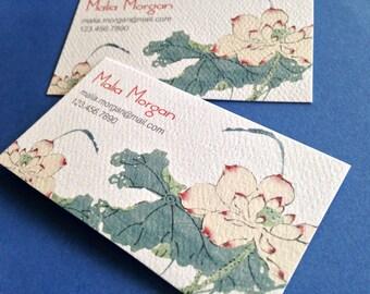 Carte De Visite Personnalise Fleur Lotus