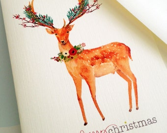 Christmas Cards, Holiday Cards, Reindeer Cards