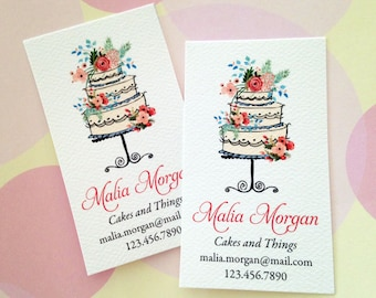 Bakery business card etsy reheart Images