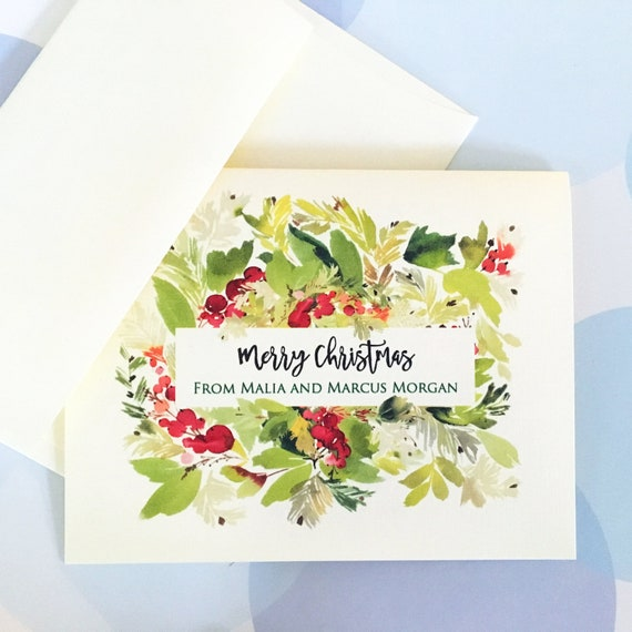 Personalized Christmas Cards.Personalized Christmas Card Custom Holiday Card