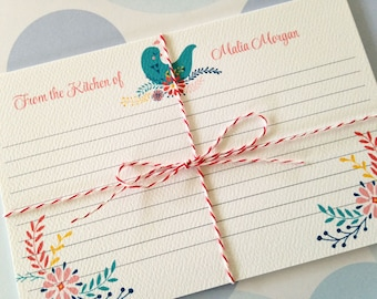Recipe Cards Personalized - Set of 12
