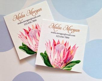 Business Cards, Custom Business Cards, Protea Card, Set of 48